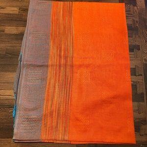 Orange/Turquoise Scarf